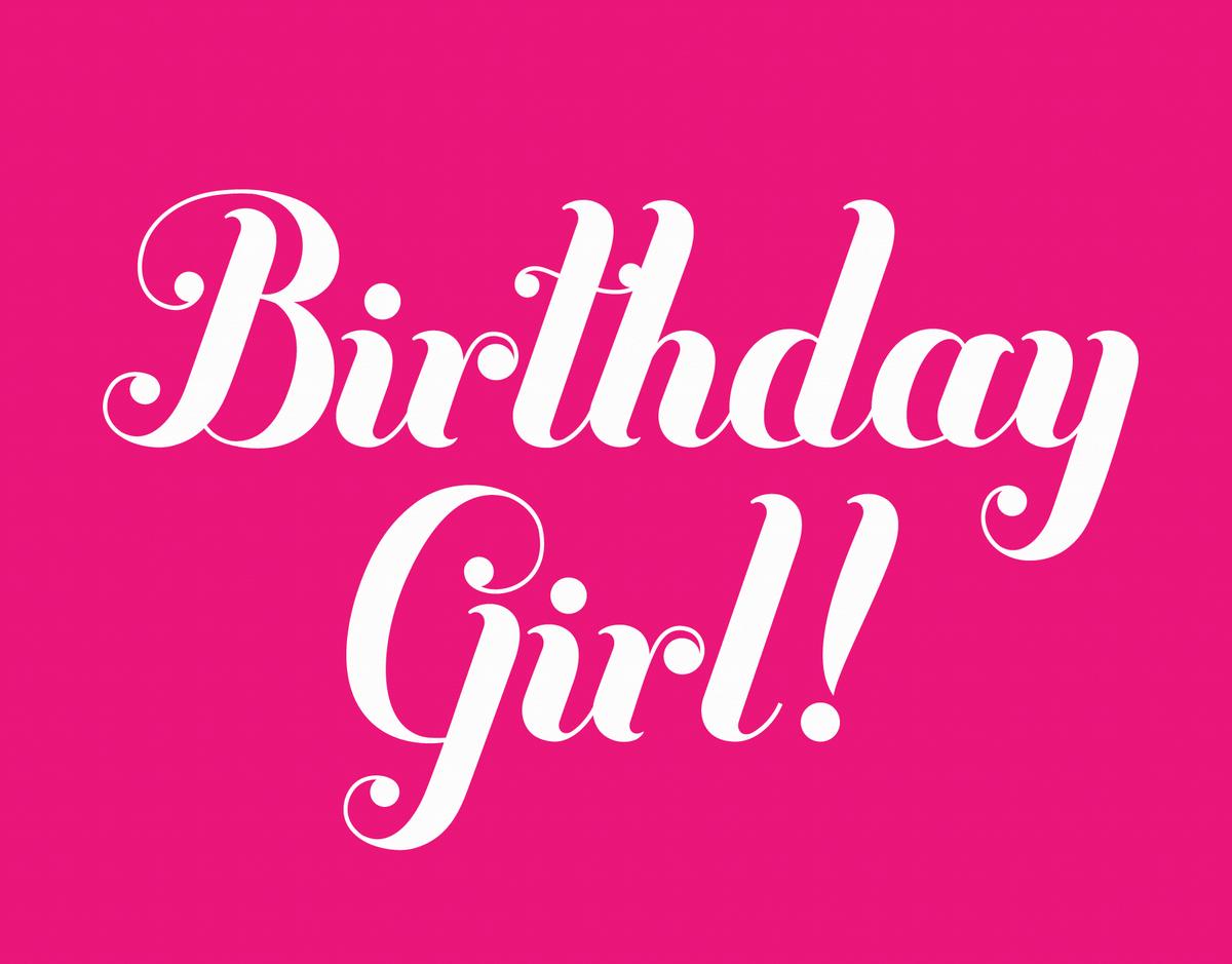 Hot Pink Birthday Card