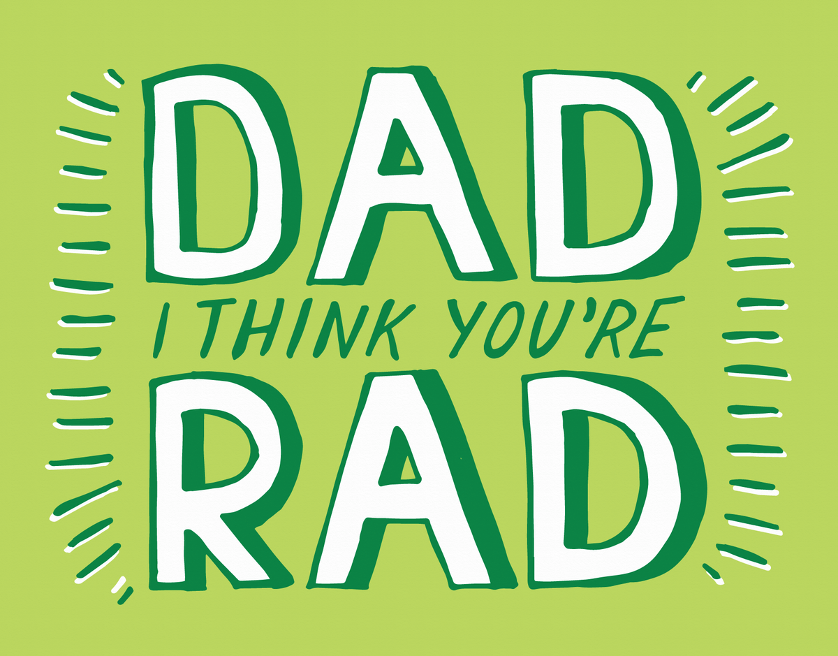 Playful Green Father's Day Card