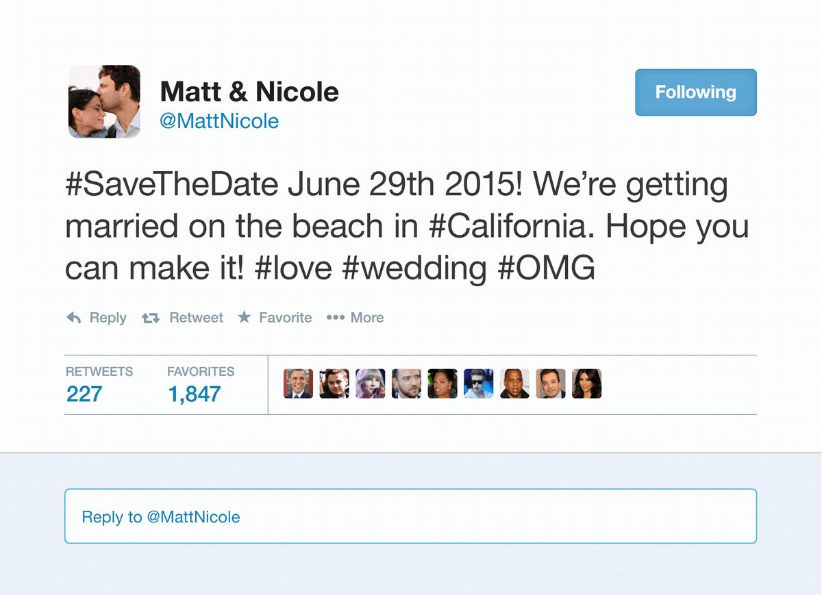Tweet Save the Date