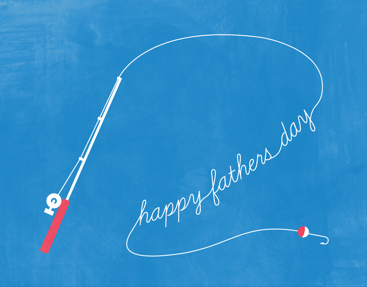 Fishing Line Father's Day Card