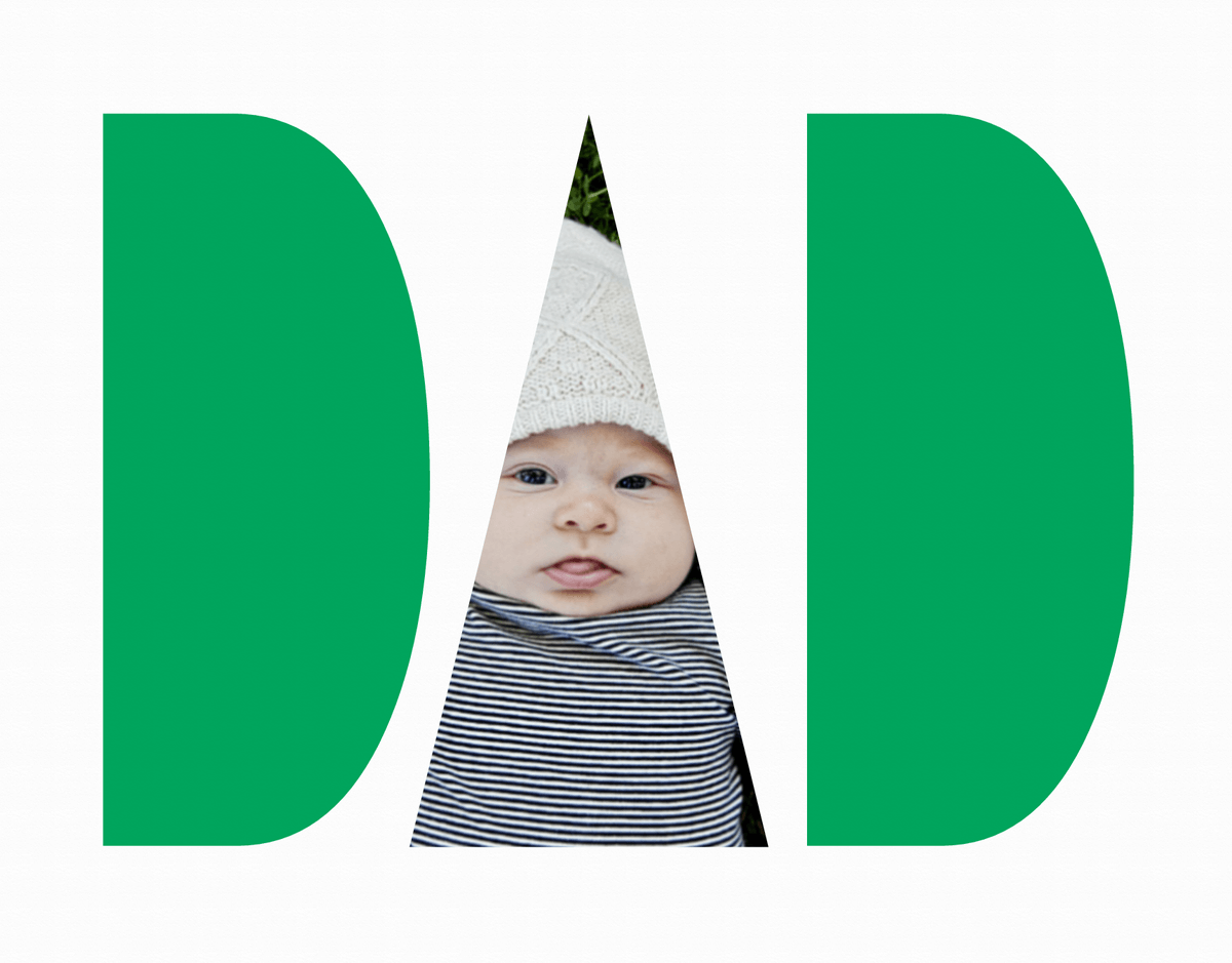 Bold Block Father's Day Photo Card