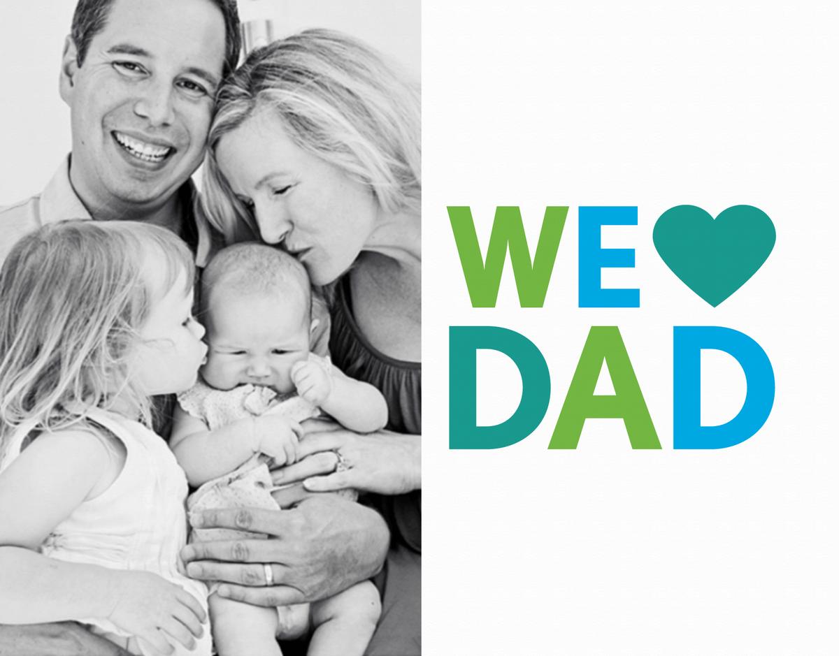 We Heart Dad Photo Card