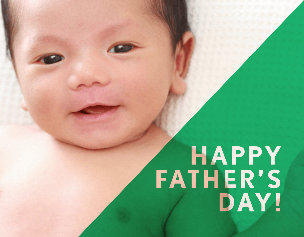 Green Triangle Father's Day Card
