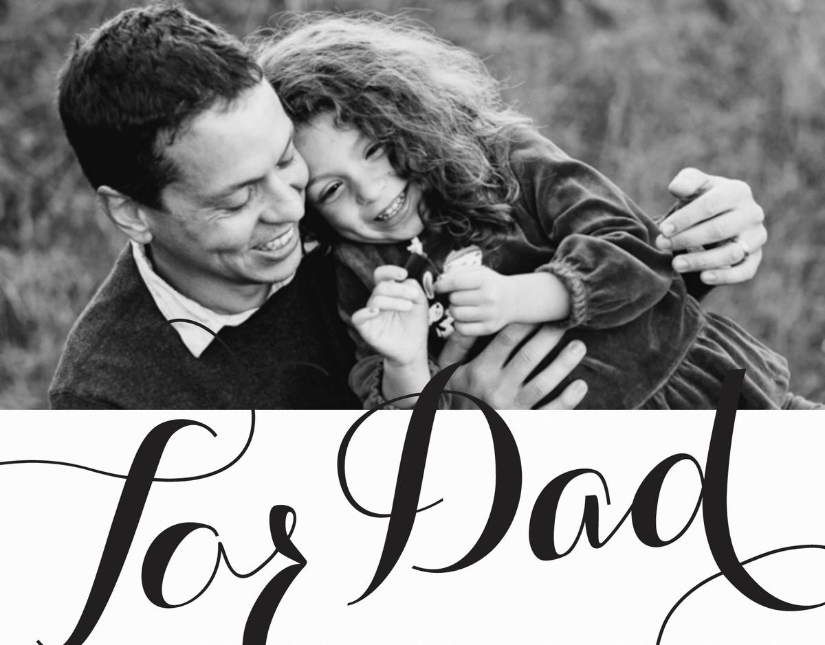For Dad Cursive Photo Card