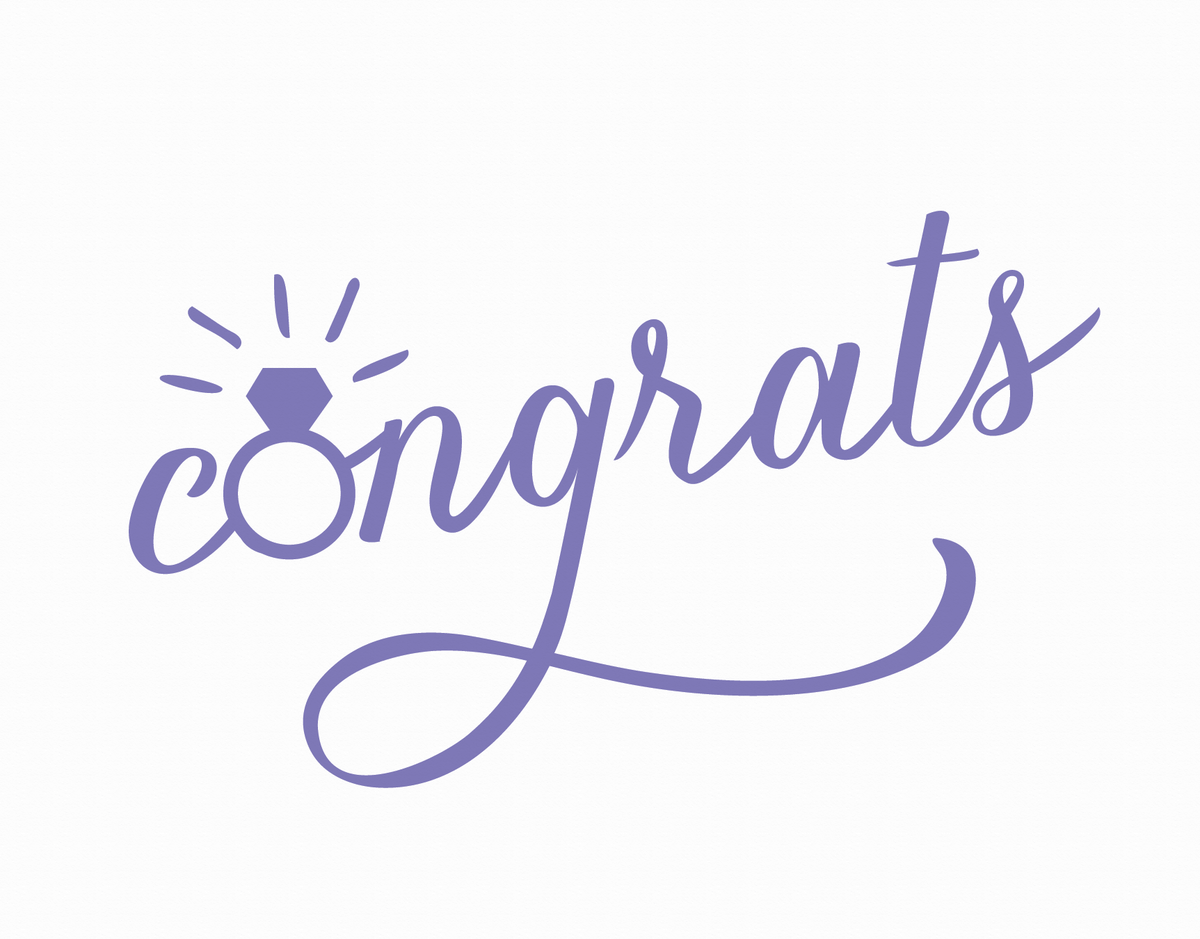 Periwinkle Bling Congrats Card