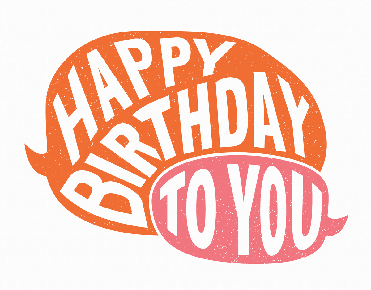 Birthday Speech Bubbles Card