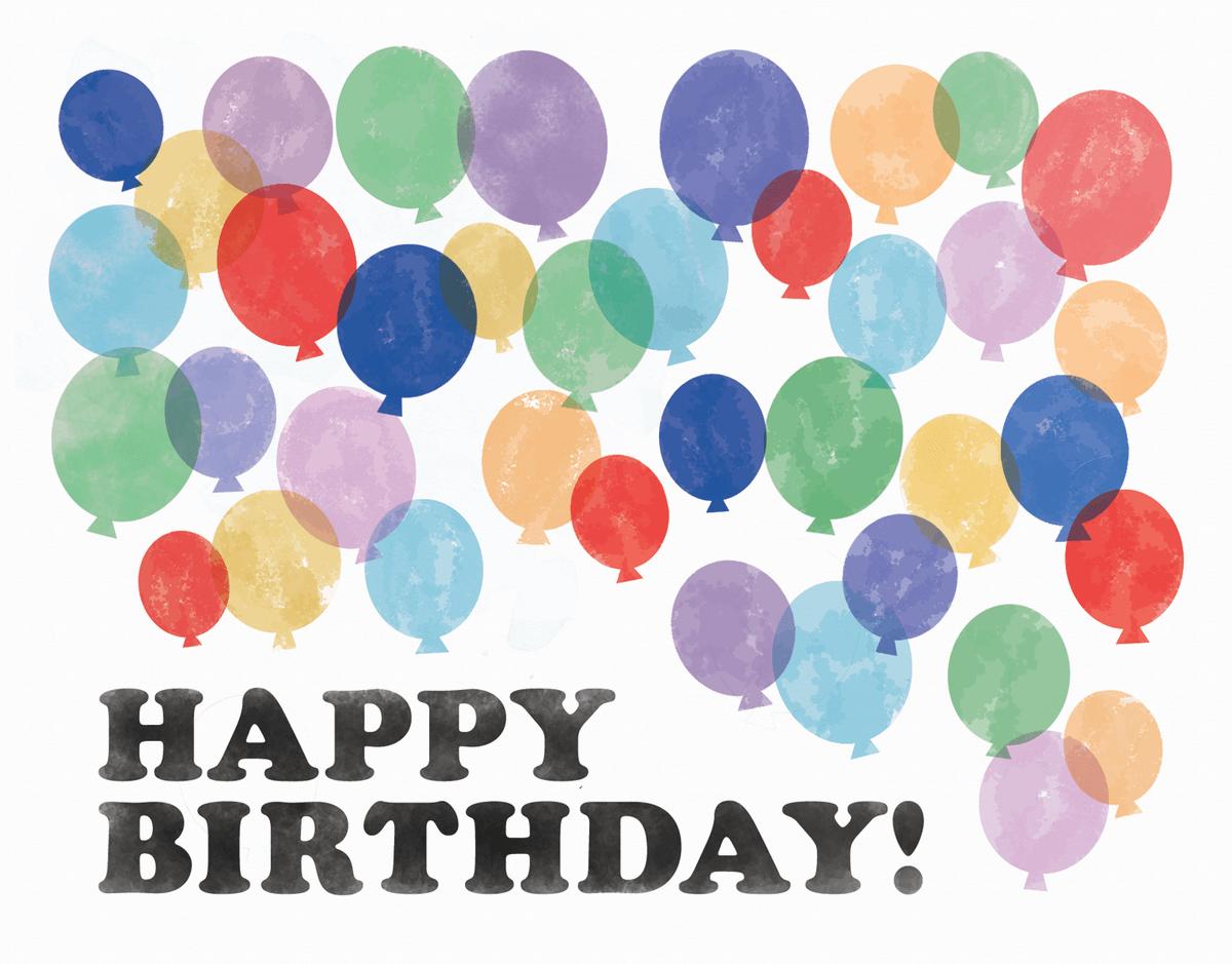 Textured Balloon Birthday Card
