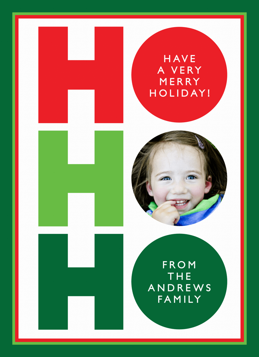 Ho Ho Ho Custom Holiday Card