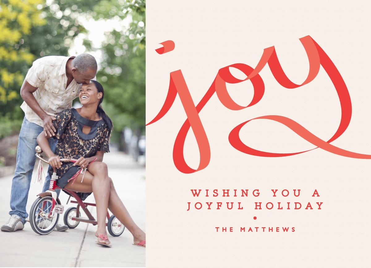 Joyful Ribbon Holiday Card