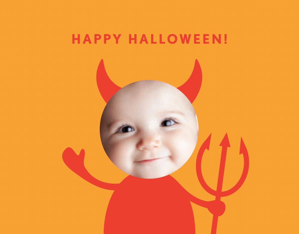 Little Devil Halloween Card