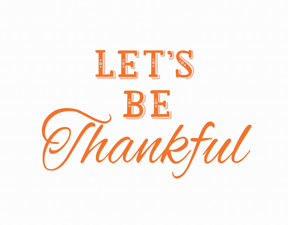 Typography Thanksgiving Card