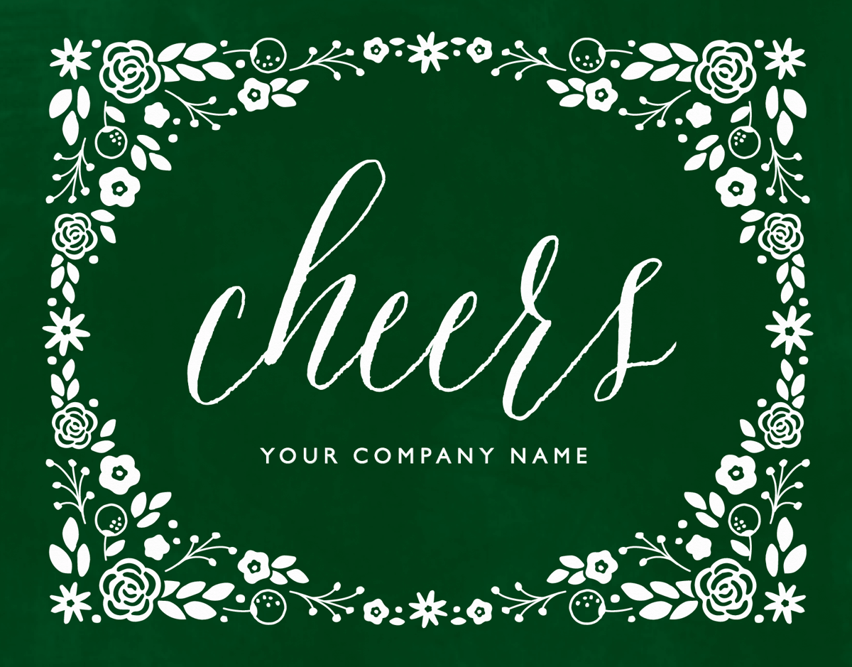 Green Cheers Business Holiday Card