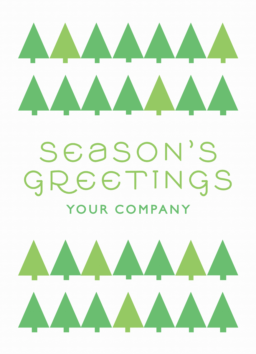 Little Trees Holiday Card for Businesses