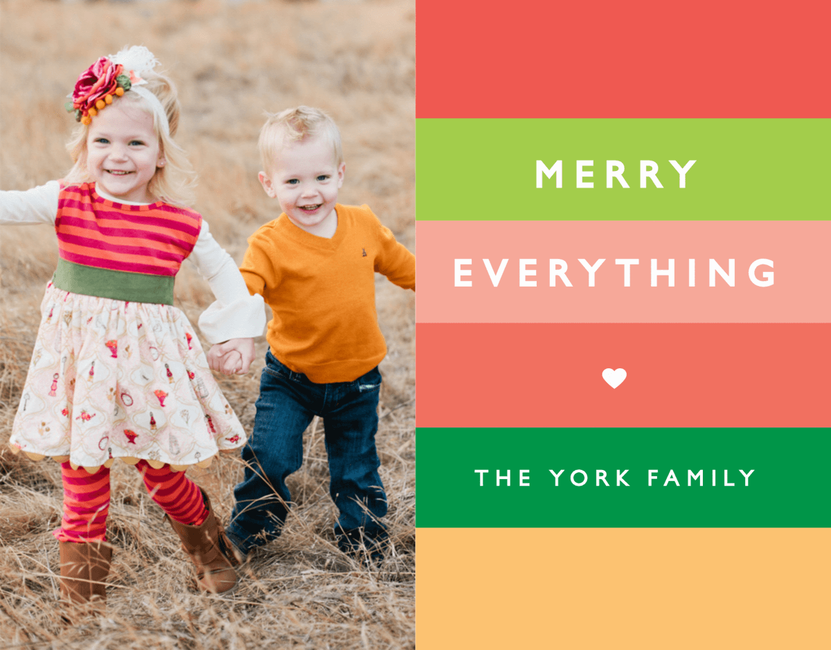 Merry Everything Stripes Holiday Card