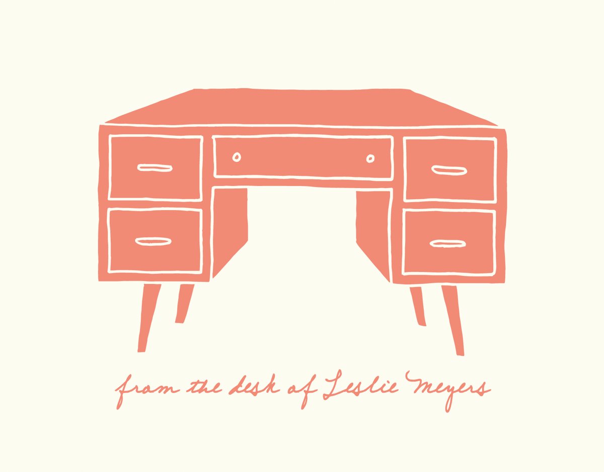 Peach Personalized Desk Stationery