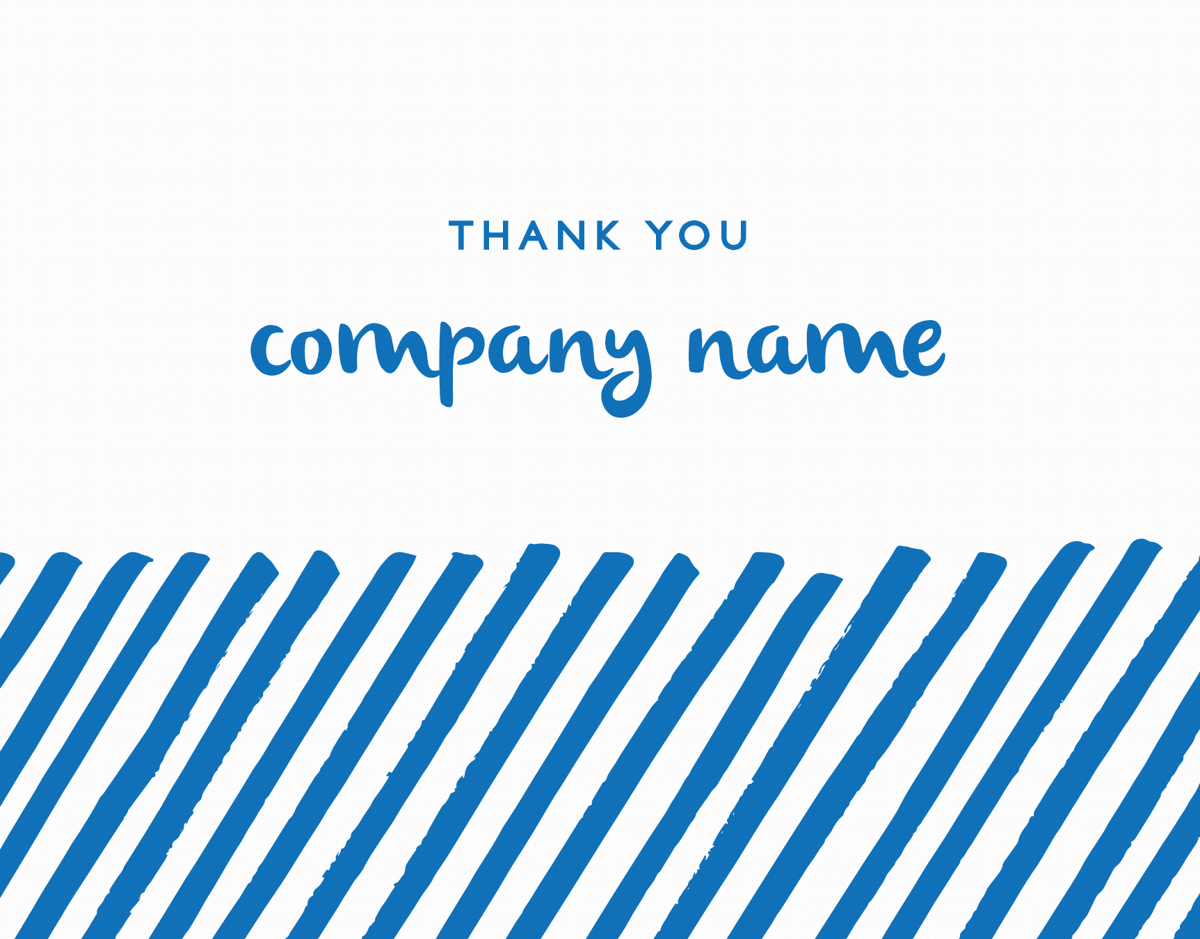 Blue Lines Business Thank You Card