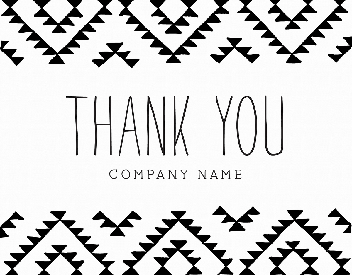 Kilim Business Thank You Note