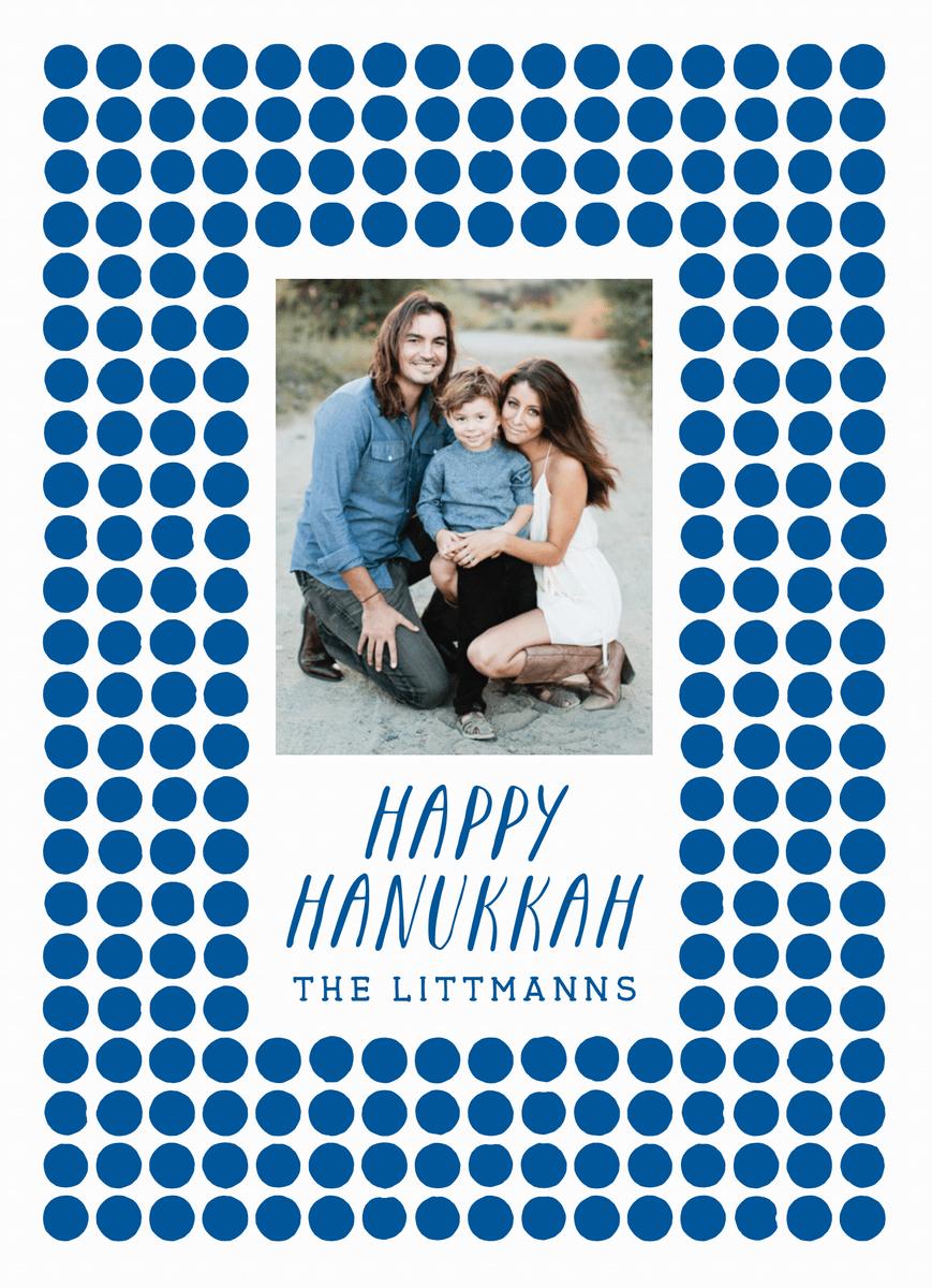 Blue Circles Hanukkah Card