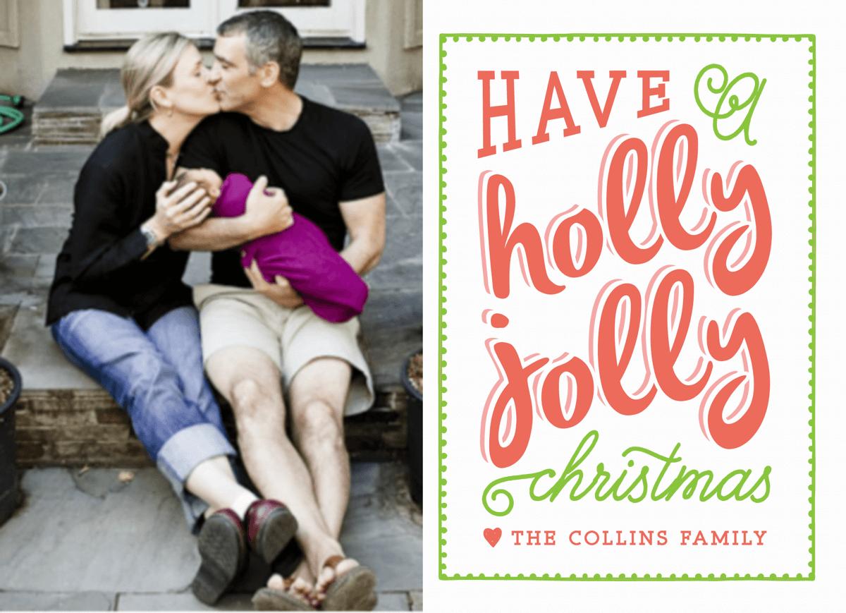 Retro Holly Jolly Christmas Card
