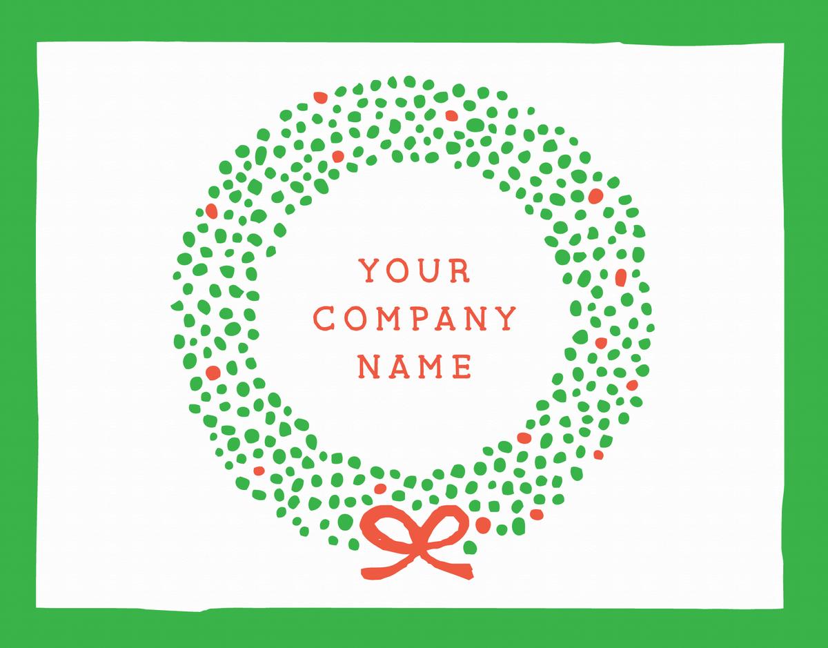 christmas wreath company holiday greeting card