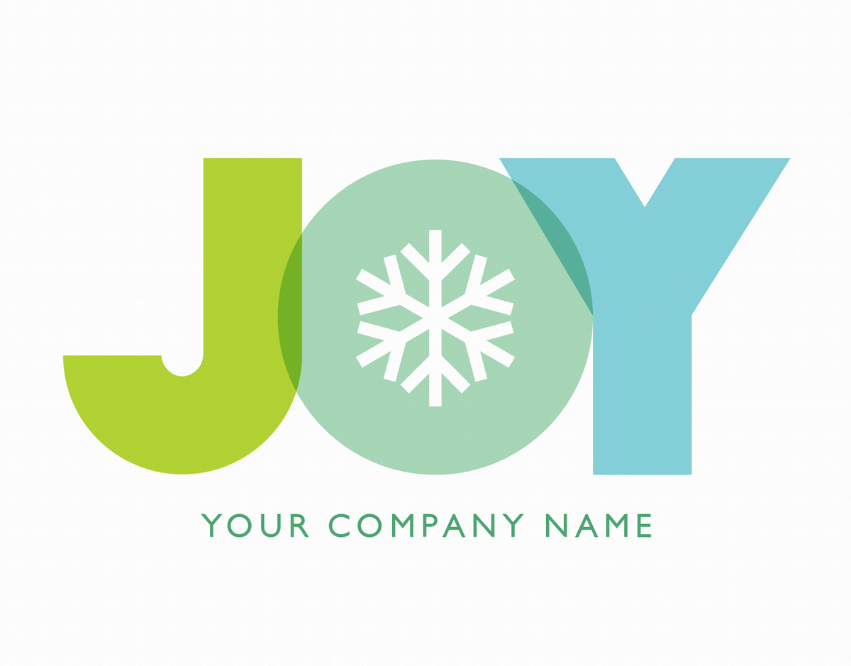 Joy Snowflake Corporate Holiday Card