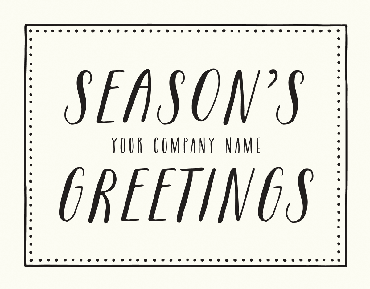 Dotted Season's Greetings Holiday Card