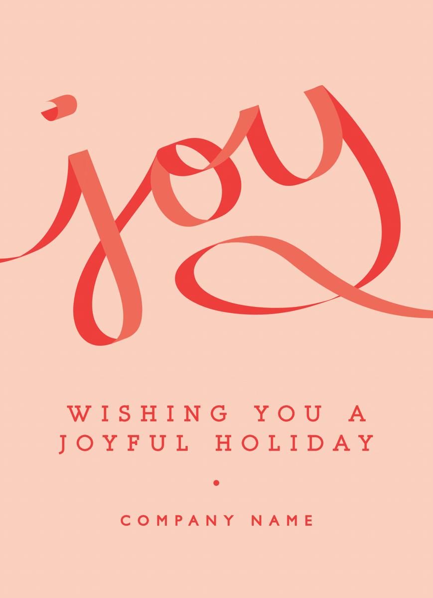 Joyful Ribbon Corporate Holiday Card