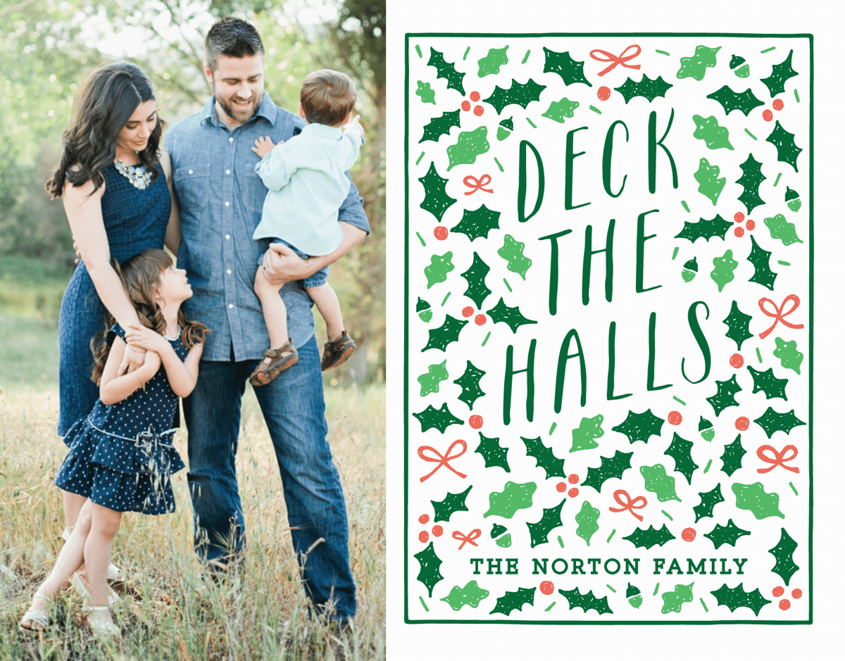 Deck The Halls Custom Photo Card