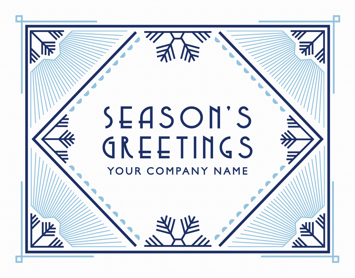 Custom Art Deco Holiday Card for Business
