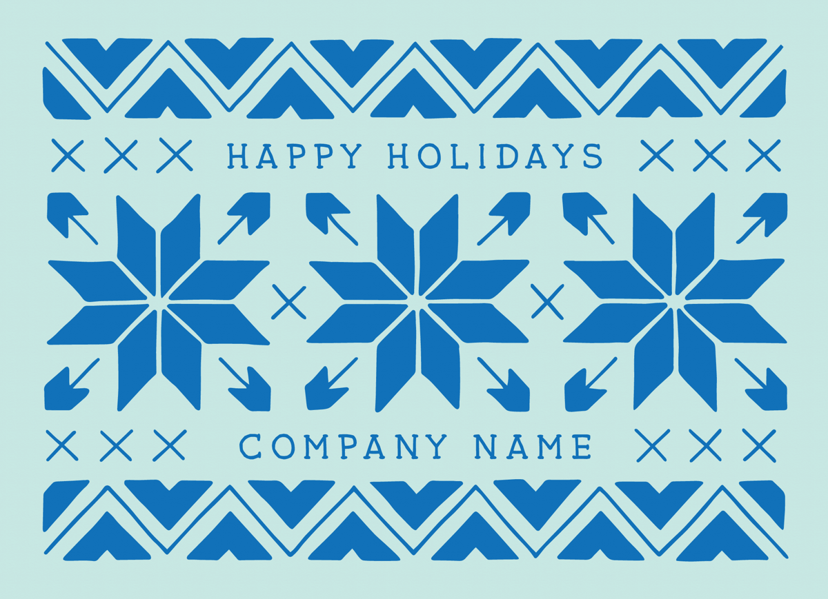 Sweater Pattern corporate Holiday Card