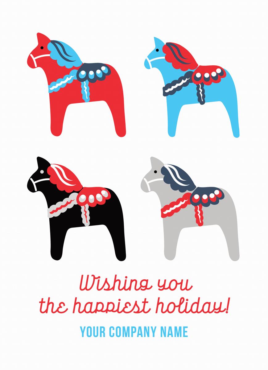 Dala Horses Company Holiday Card