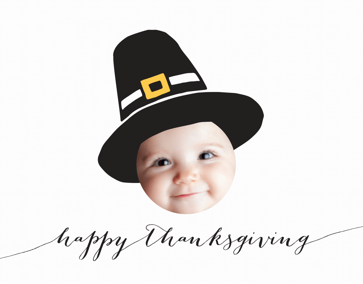 Thanksgiving Pilgrim Photo Card
