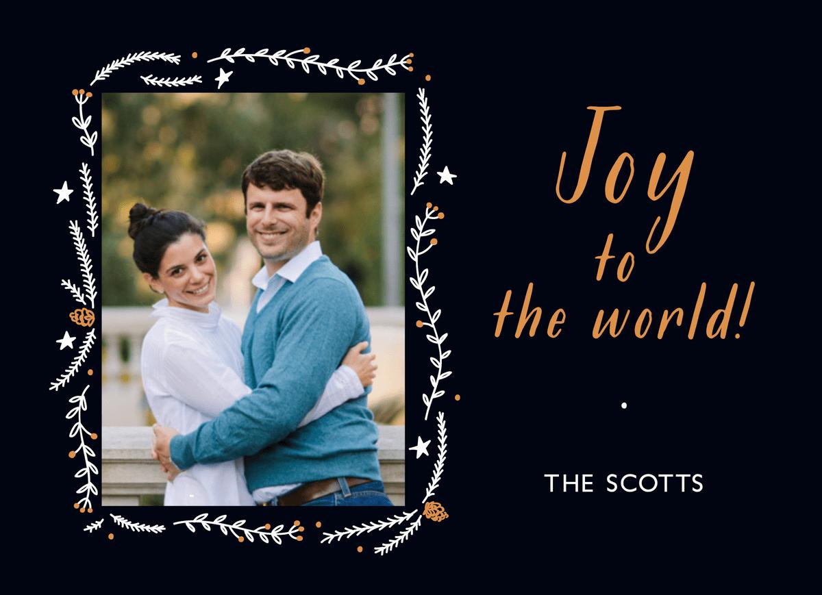 Joy to the World Photo Holiday Card