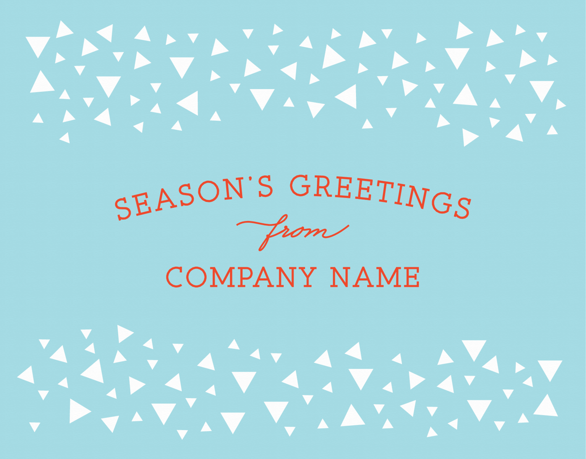 Business Triangle Holiday Greetings Card