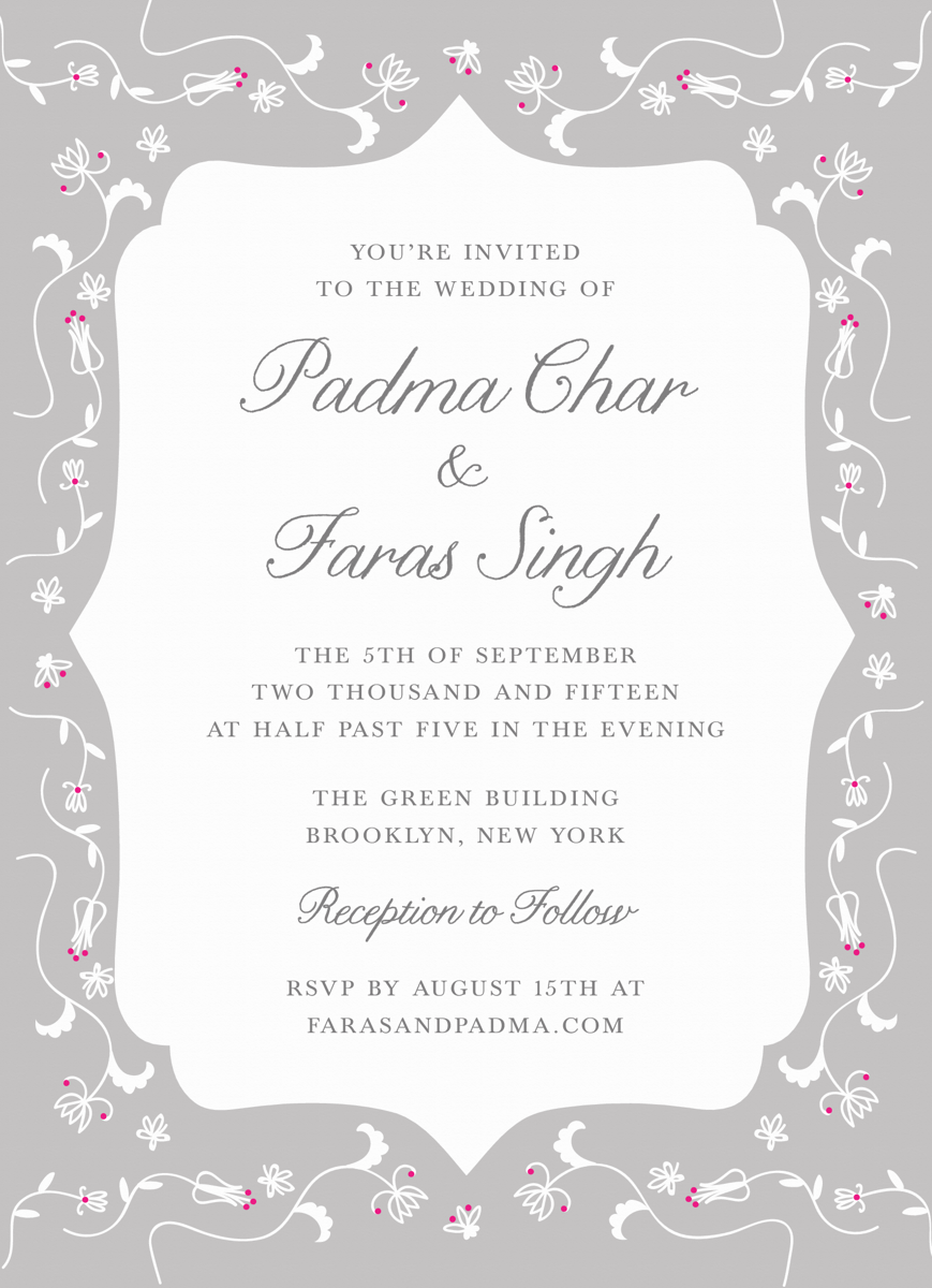 Grey Pattern Invitation