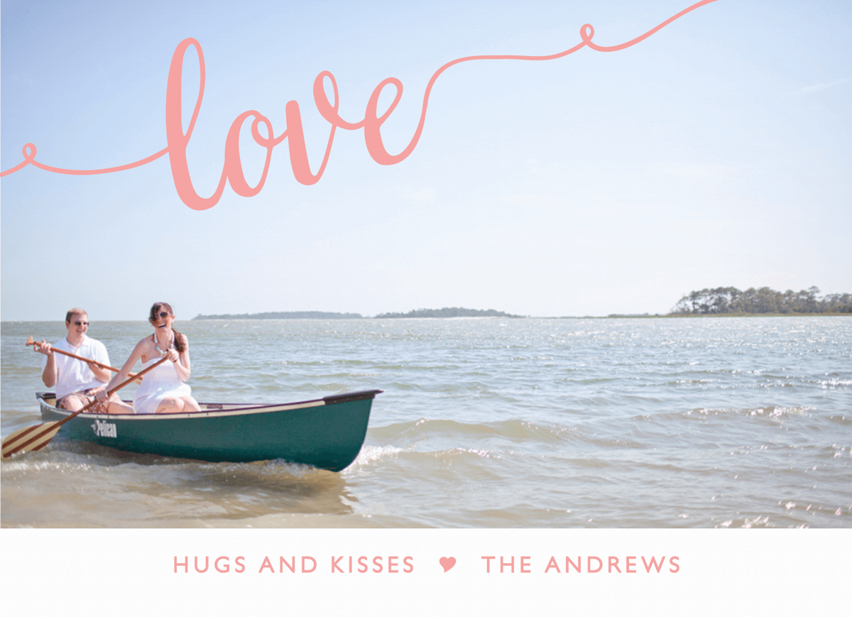 Flourish Pink Love Valentine Card