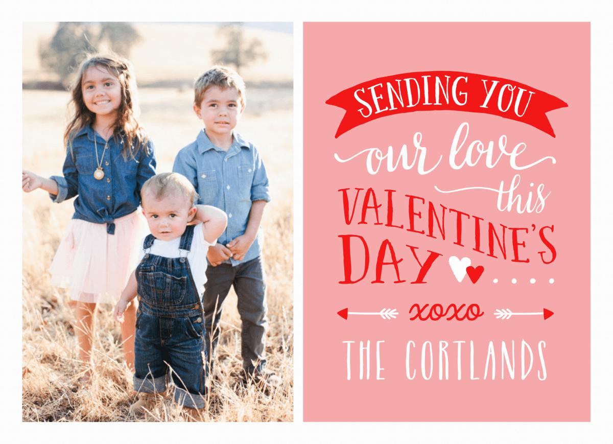 Lettering Custom Photo Valentine Card