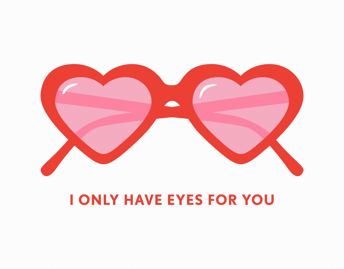 Lolita Glasses Valentine Card