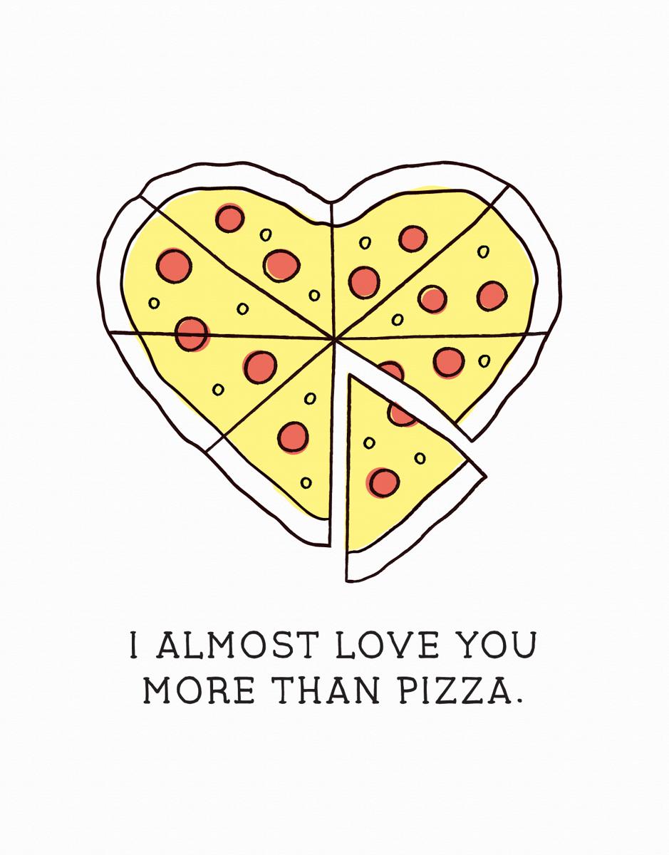 Pizza Love Card
