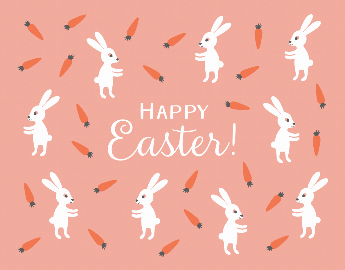 Carrots Easter Card