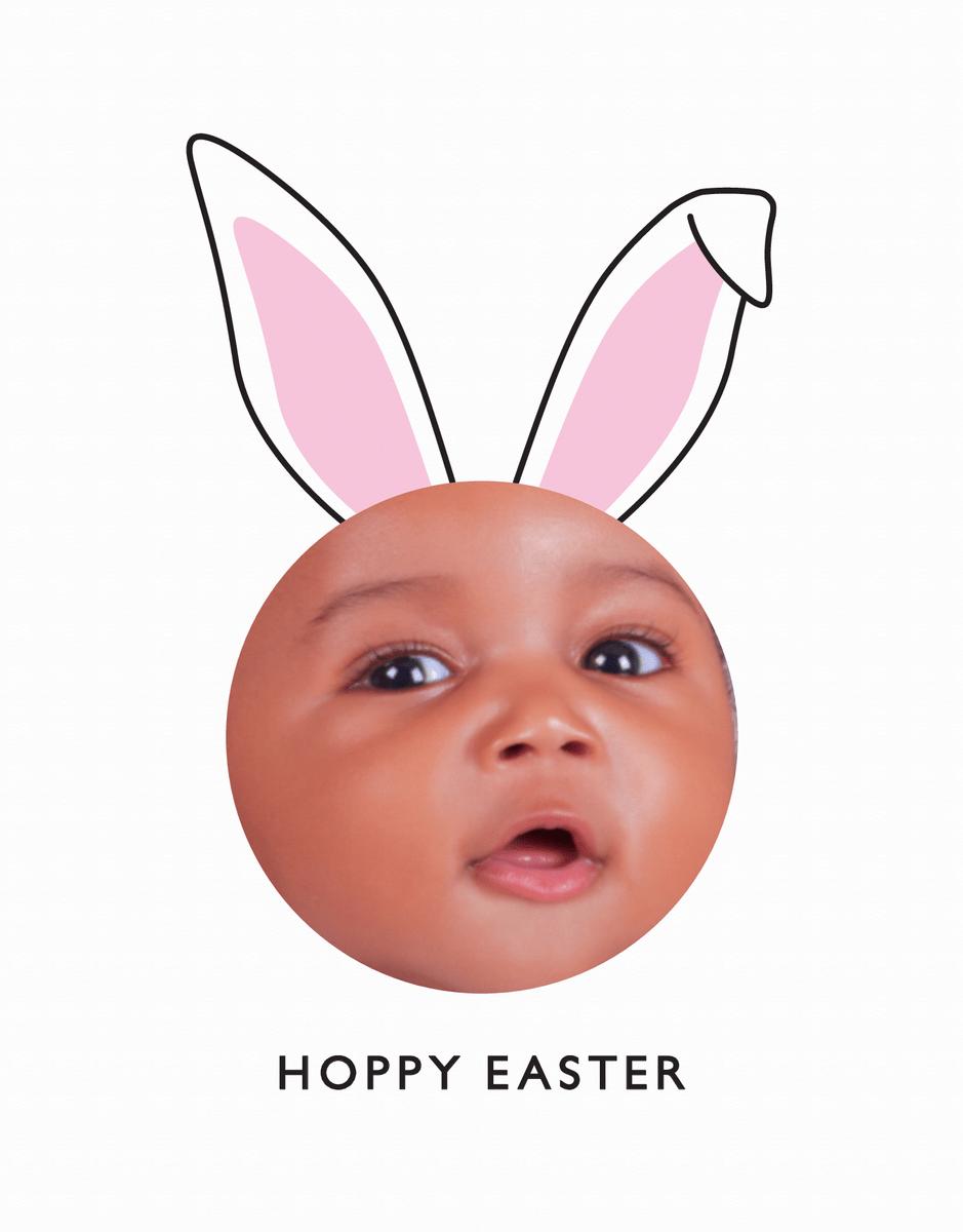 Photo Bunny Ears Easter Card