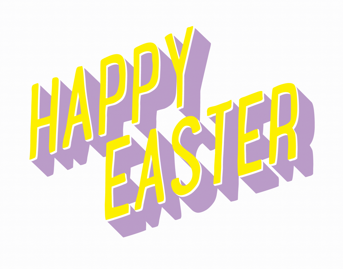 3D Happy Easter Card