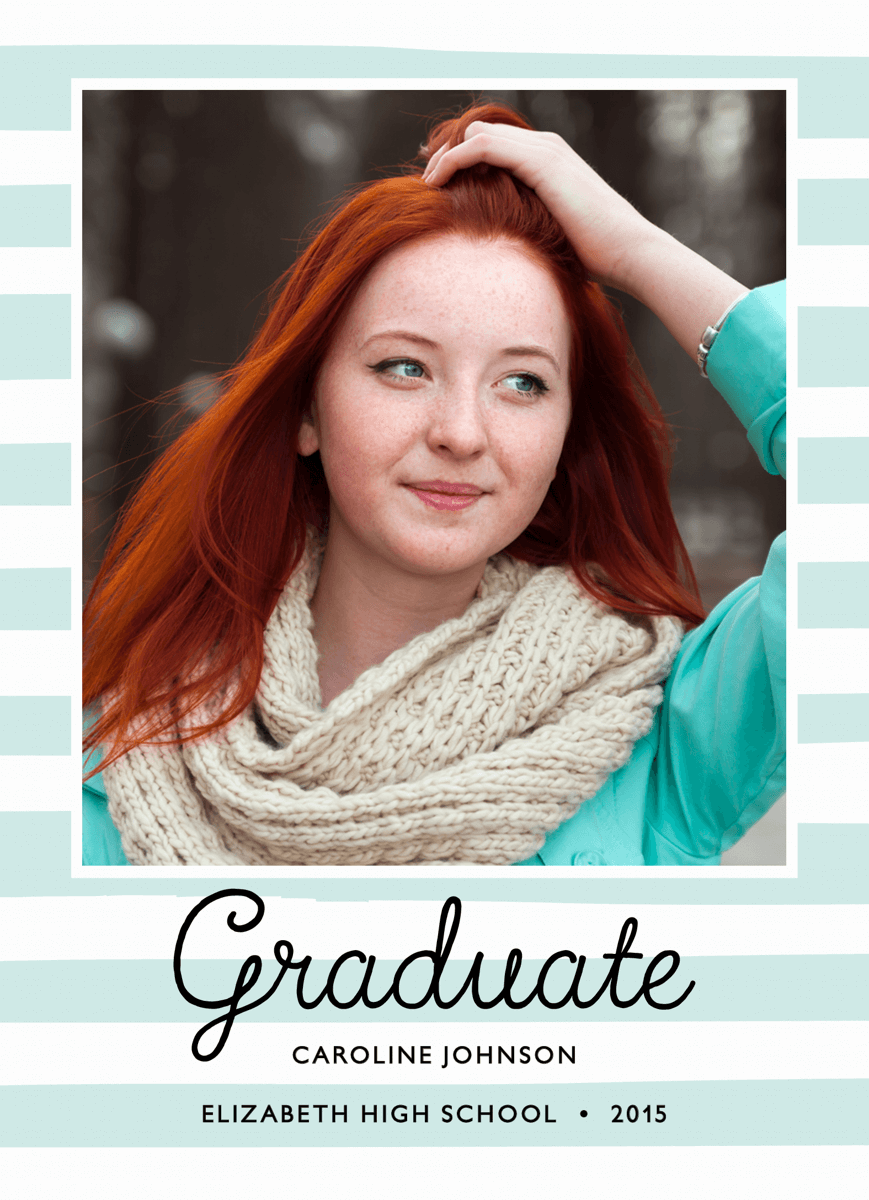 Pastel Stripes Graduation Announcement