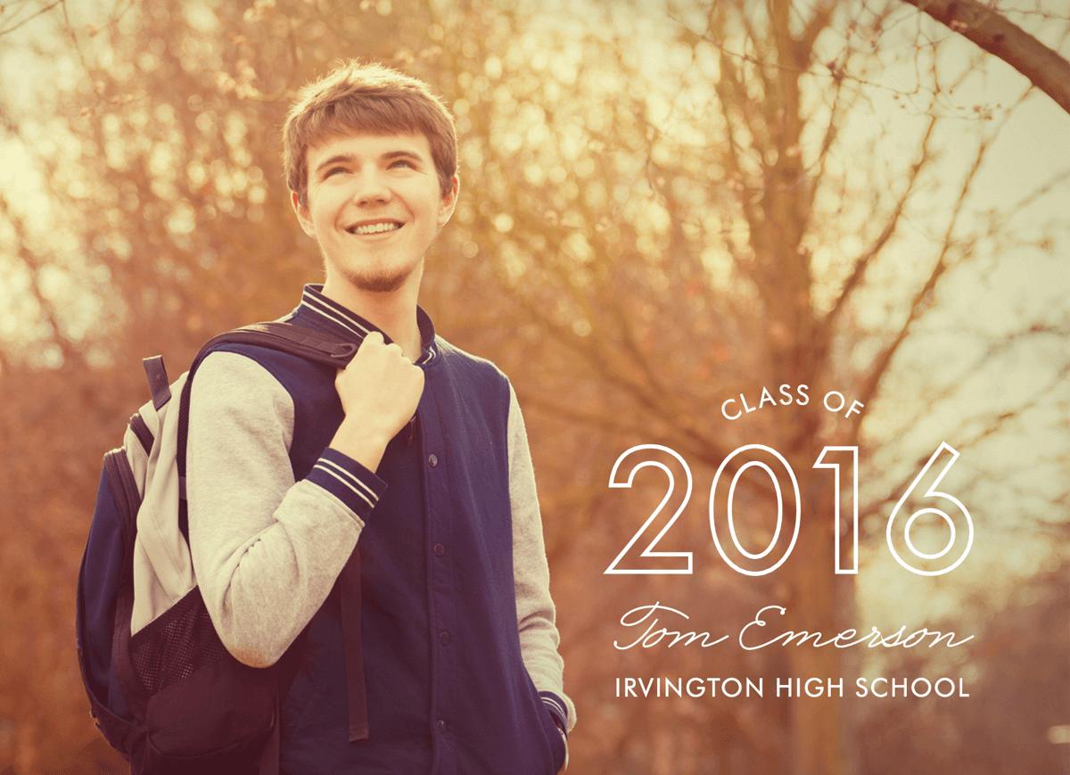 Sleek Graduation Announcement