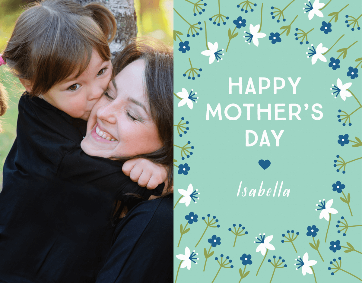Floral Mint Mother's Day Card