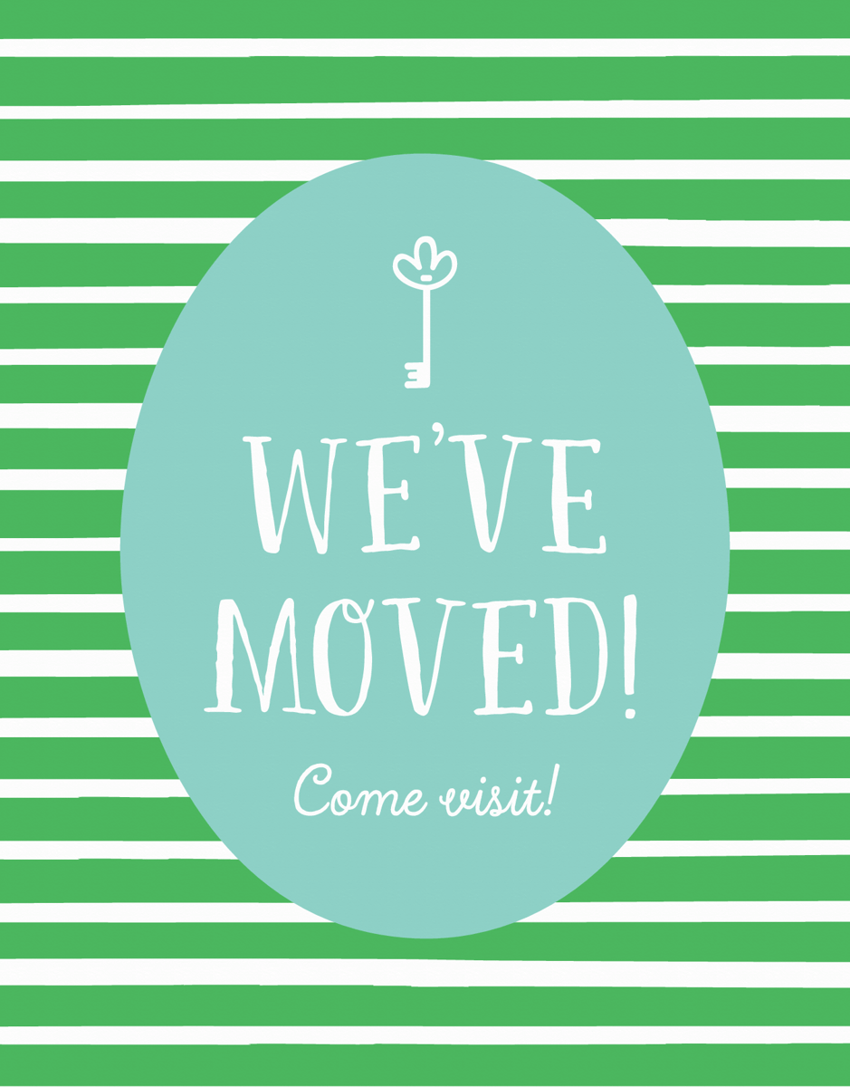Greep Striped Moving Announcement