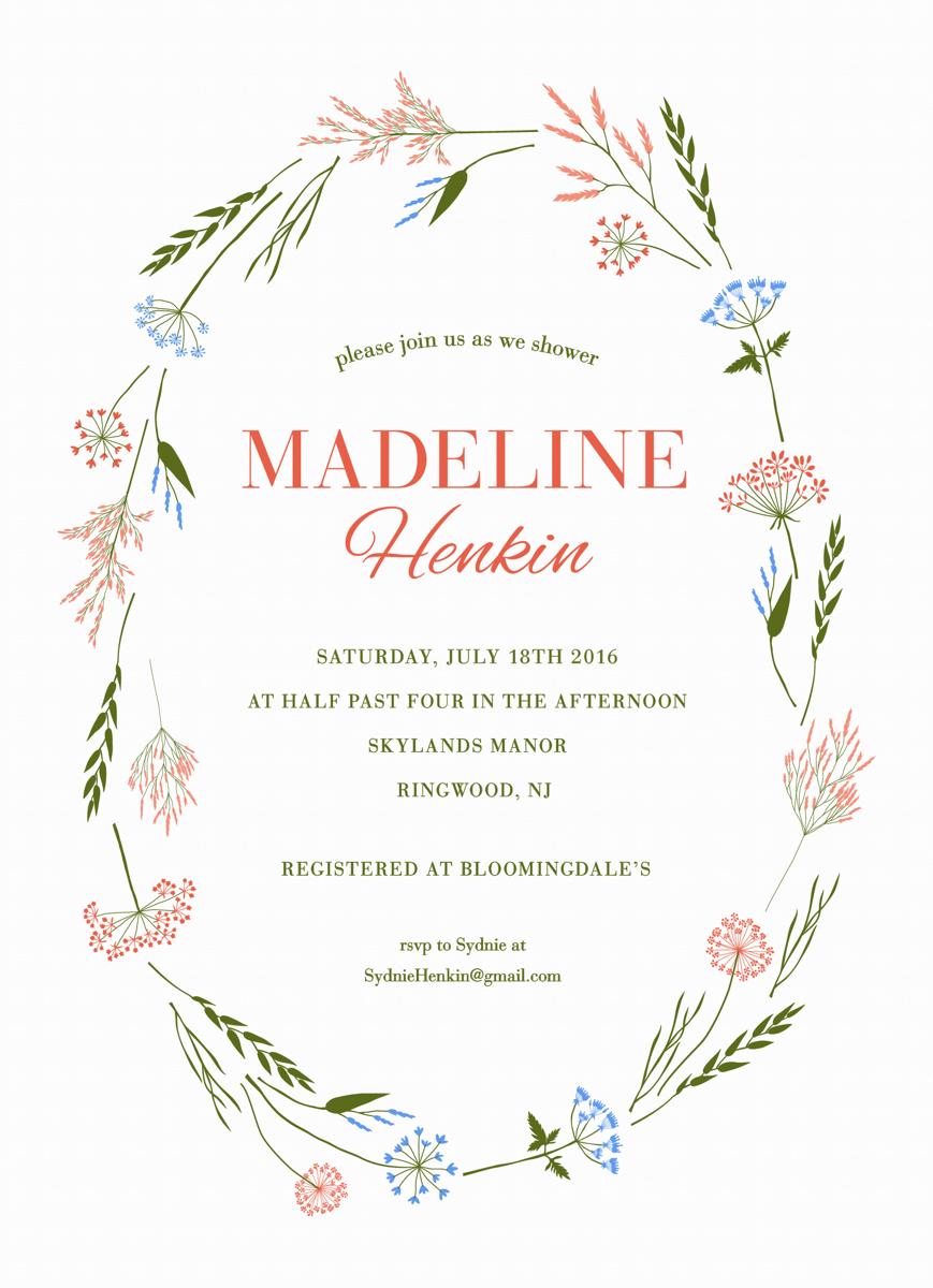 Wildflowers Bridal Shower Invite