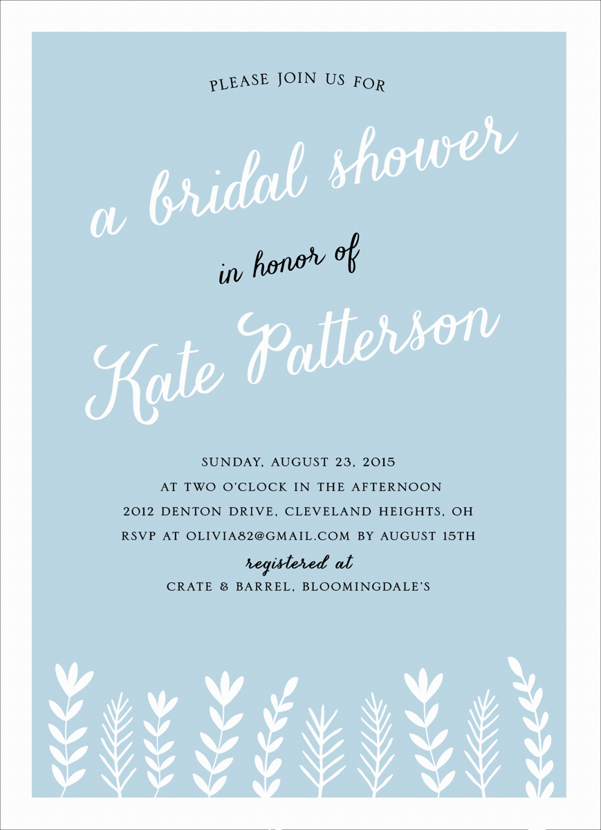 Charming Branches Bridal Shower Invite