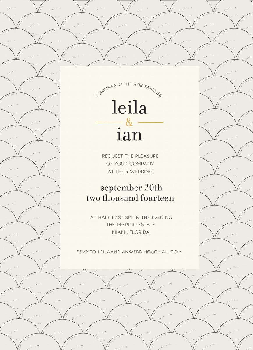 Deco Arts Wedding Invite