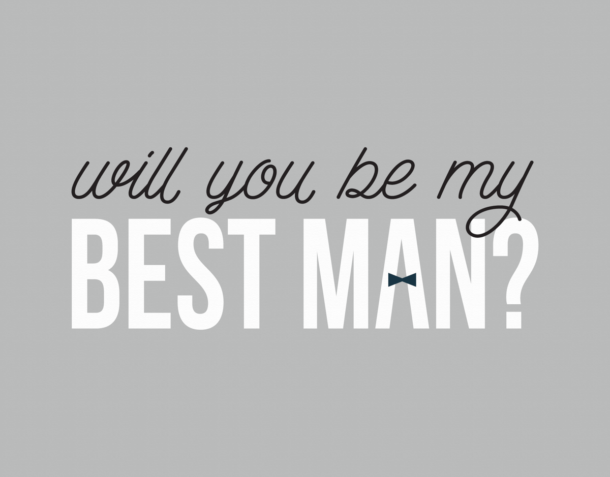 Bow Tie Will You Be My Best Man Card